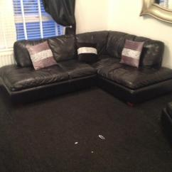 Corner Sofas Glasgow Gumtree Most Comfortable Canada Black Leather Sofa With Match Chair | In Maryhill ...