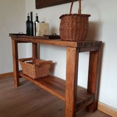 Kitchen Console Table Sink Styles Rustic Reclaimed Hallway Or Tv Unit Desk Handcrafted Local