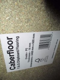 NEW! 10 SHEETS CABERFLOOR, T & G CHIPBOARD FLOORING, GRADE ...