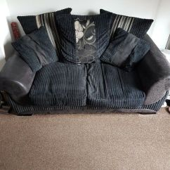 Black 3 Seater Sofa And Cuddle Chair Furniture Stores With Matching Swivel In Plymouth