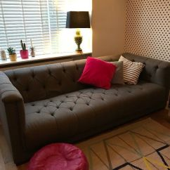 Two Seater Recliner Sofa Gumtree Craigslist Houston Grey 4 Chesterfield Fabric Trafalgar Dfs Grand ...
