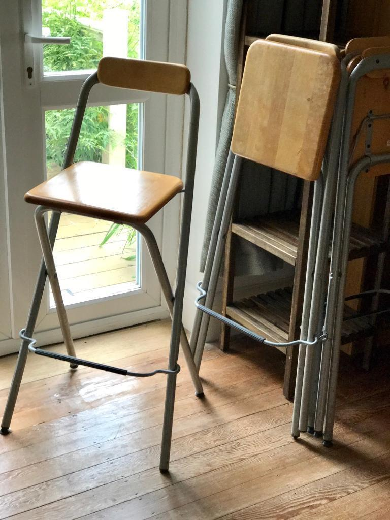 Set of 4 sturdy Ikea Dennis kitchen chairs bar stools