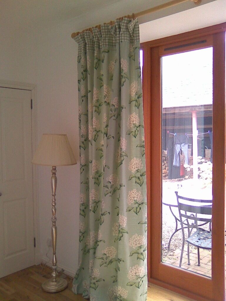 Laura Ashley Bespoke Extra Long Curtains And Cushions In Leith