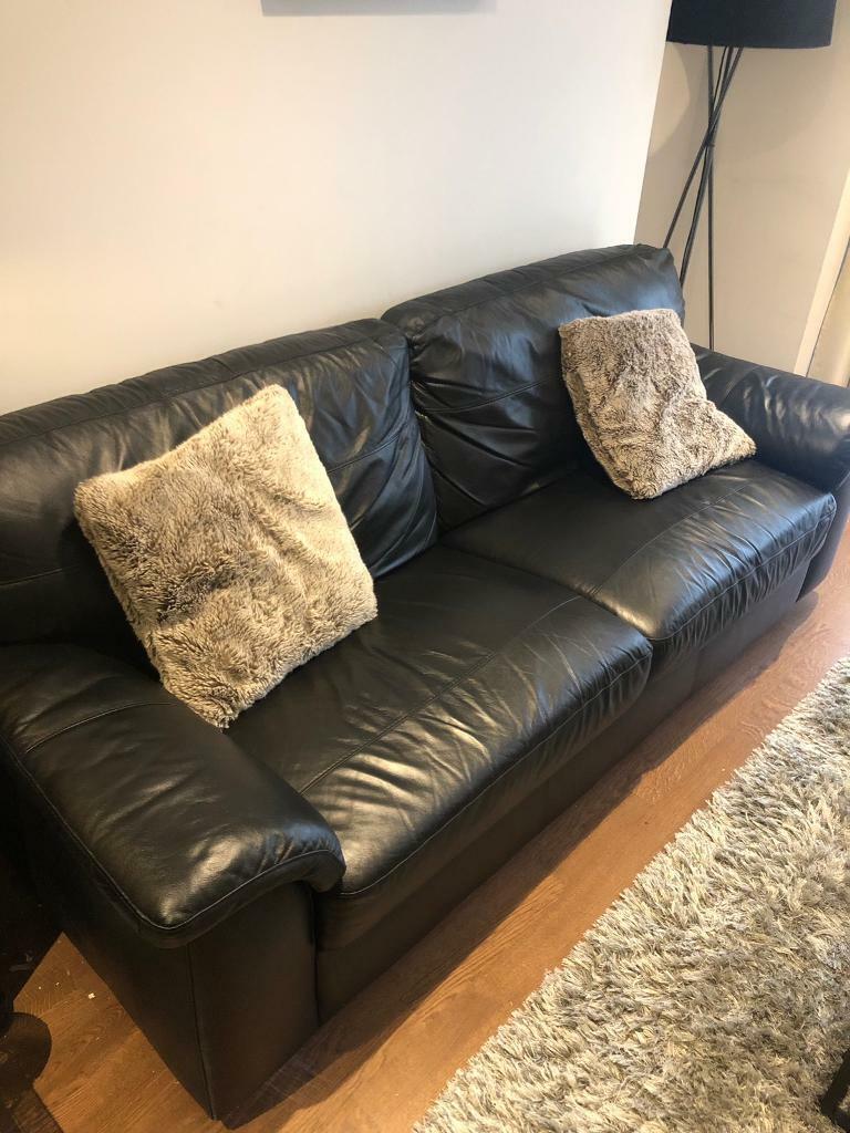 sofa london gumtree sofas cama tienda mak madrid next bexley black leather 3 seater in kingston