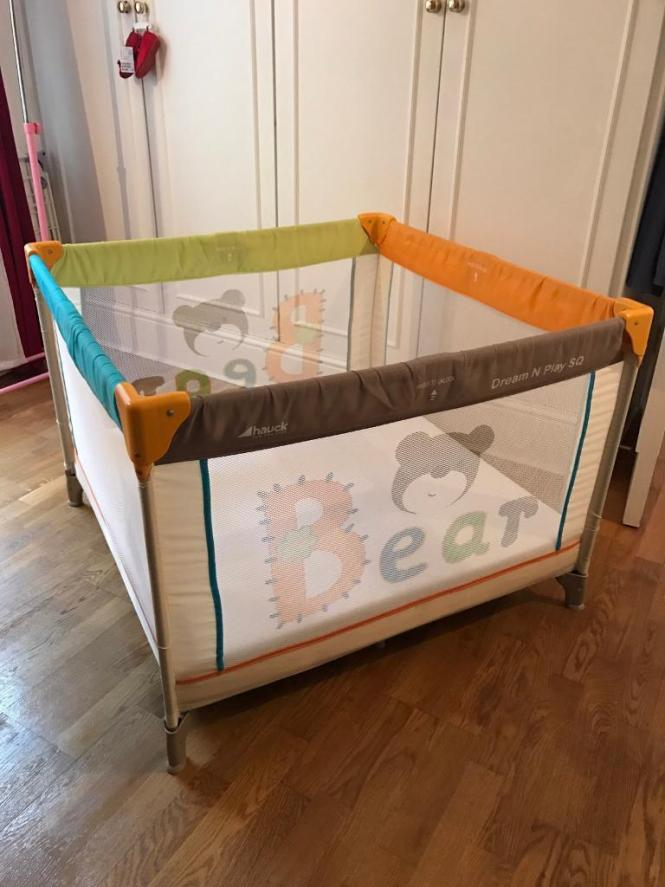Cot Bed Playpen Squared Double Twins Travel Compact With Real Mattress Made To Measure