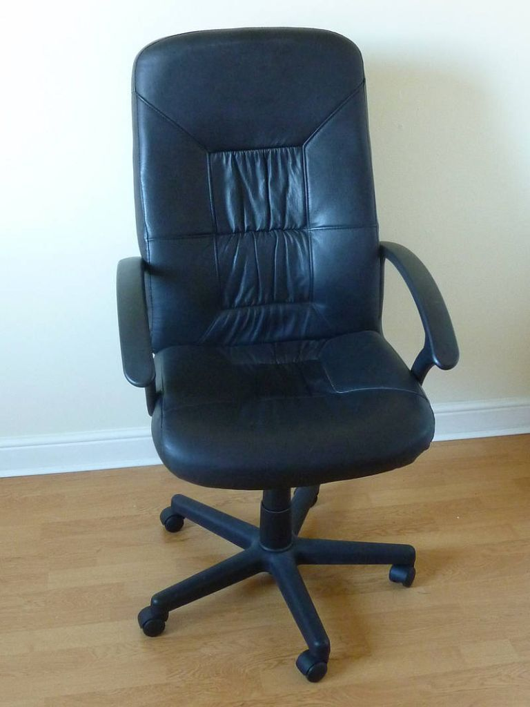 swivel chair uk gumtree fishing wowhead ikea allak chair, black split leather, adjustable | in colinton, edinburgh