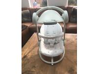 swing chair mamas and papas preschool tables chairs baby swings for sale gumtree swinging