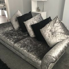 Harveys 3 Seater Recliner Sofa Genuine Leather Power Reclining Dfs Black And Silver Crushed Velvet | In Chadderton ...
