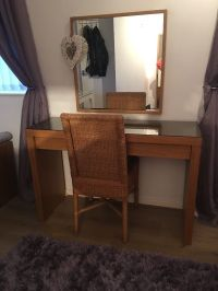 Ikea Malm dressing table/ desk/ console table with mirror ...