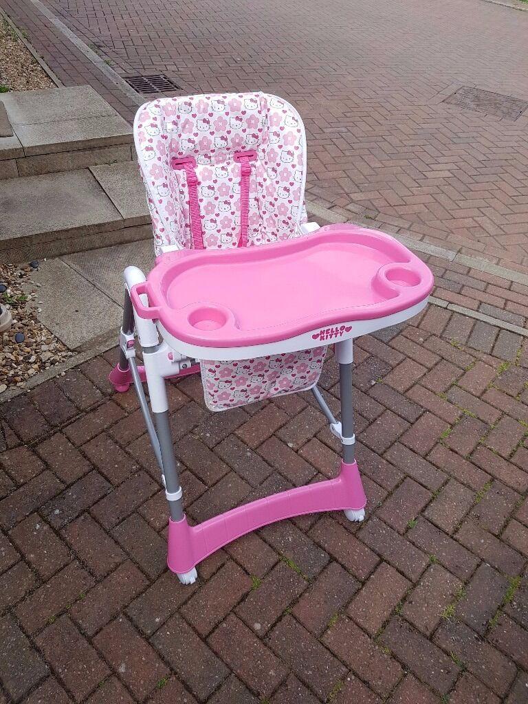 hello kitty high chair aluminum patio chairs height adjustable in yaxley cambridgeshire