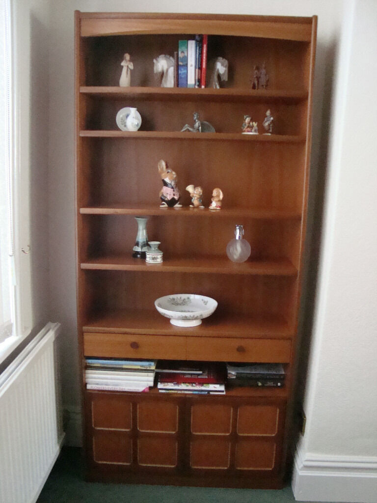 Parker Knoll Nathan Teak Bookcase With Doors In Barrow