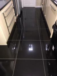 High Gloss Black Porcelain Floor Tiles 600x600. | in ...