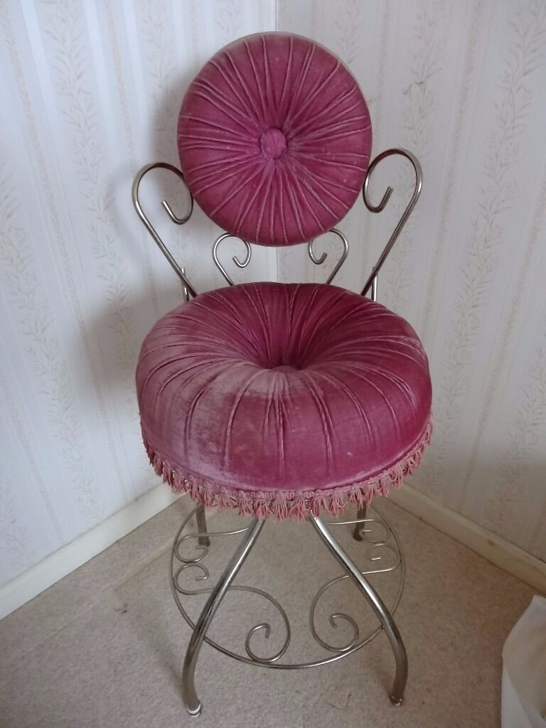 leather recliner chairs with footstool winston sling chair replacement fabric hollywood regency velvet vanity boudoir - vintage | in verwood, dorset gumtree