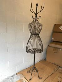 Vintage looking metal dress form mannequin coat stand ...