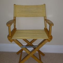 Striped Directors Chairs Chalk Paint Table And Chair Ideas 4 Folding Yellow White In
