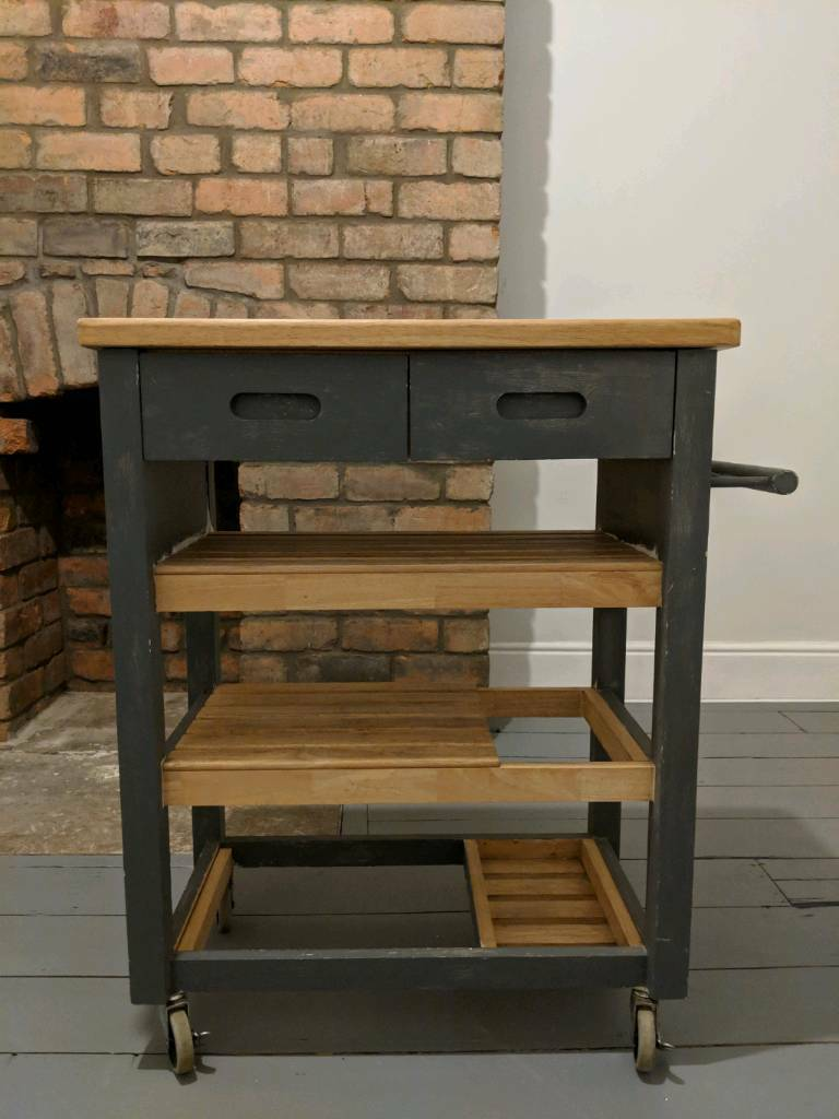 kitchen trolley ikea set butchers block upcycling project in sheffield