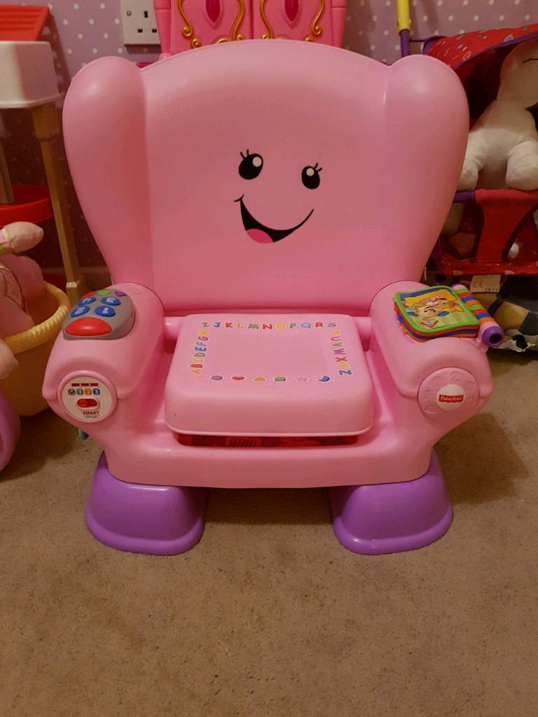 fisher price laugh and learn chair pink rocking with ottoman walmart smart stage in south shields