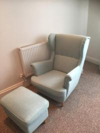 IKEA Strandmon wing chair and footrest | in Woodbridge ...