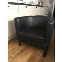 Tub Chair Covers Ireland For Sale In Johannesburg Chairs Stools Other Seating Gumtree Ikea Black Faux Leather
