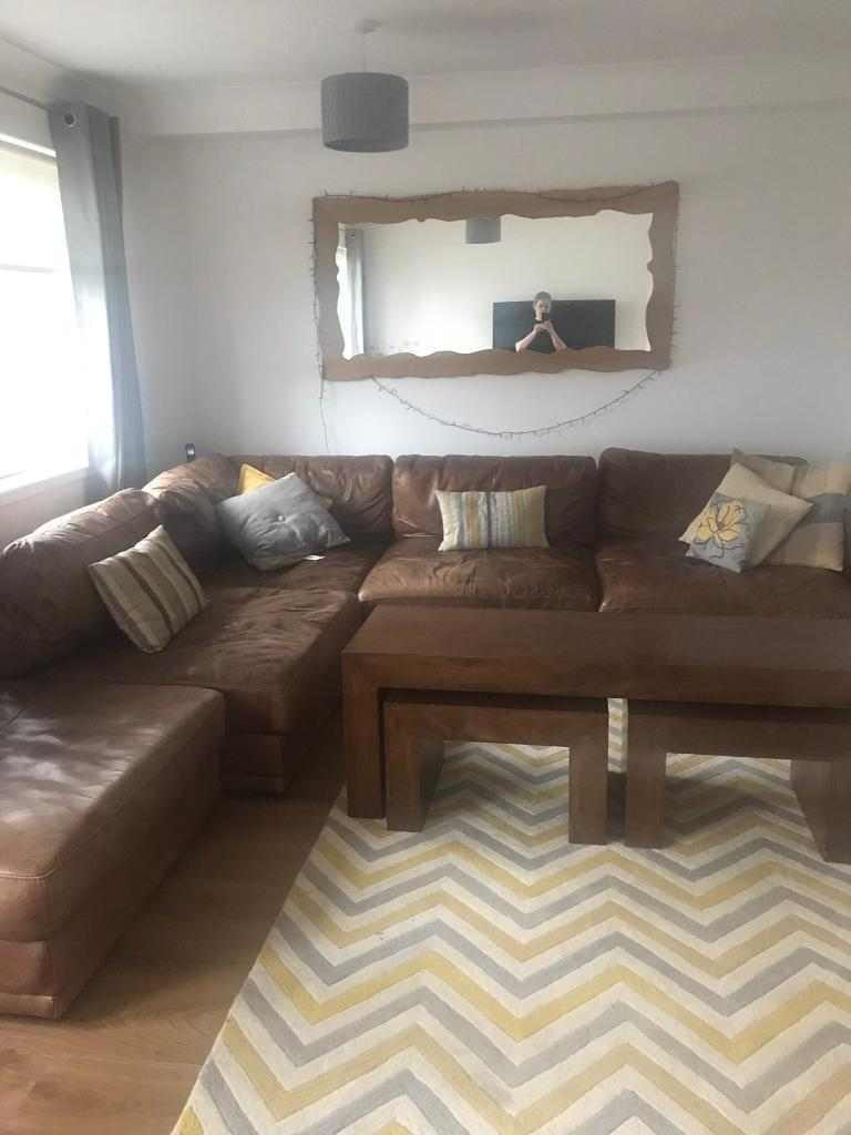 corner sofas glasgow gumtree sofa bed chairs brown leather in clarkston