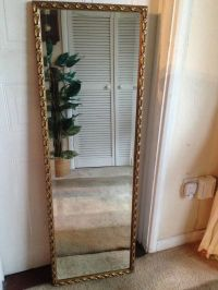 GOLD ORNATE FULL LENGTH WALL MIRROR. | in Waterlooville ...