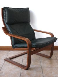 Ikea Poang Green Leather Chair | in Haddington, East ...