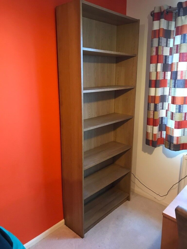 Two X Ikea Billy Bookcases One Wide And One Narrow Oak Veneer In Newport Gumtree