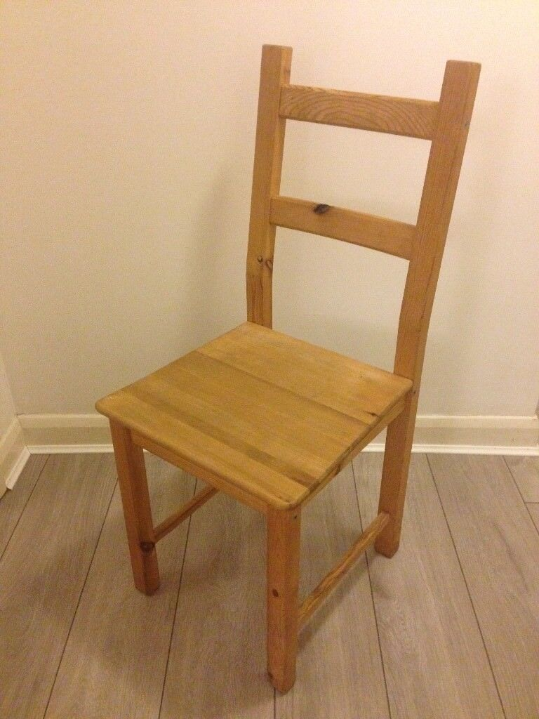 ikea wooden chairs chair cover hire wrexham solid pine for kitchen or desk in