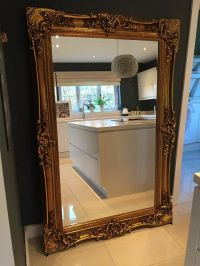 NEW HUGE Gold Designer Rococo Ornate Large Leaner Mirror ...