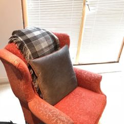 Red Leather Sofas Gumtree Manchester Leon S Edmonton Red/burgundy Wingback Armchair. Laura Ashley | In ...