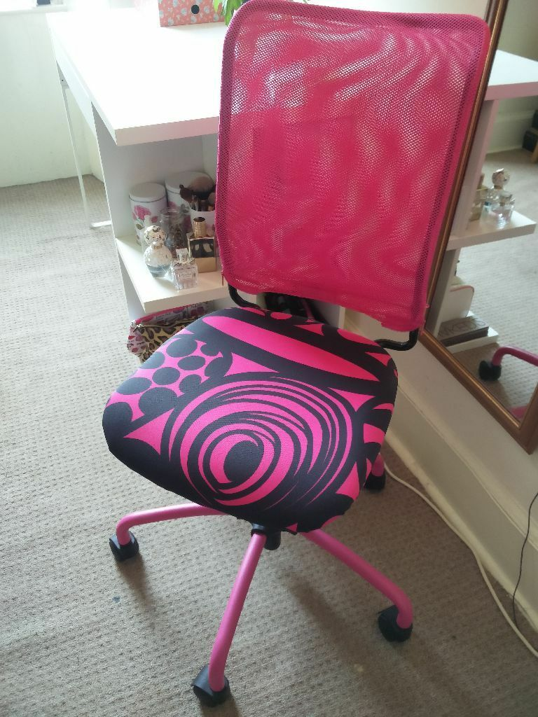 kneeling office chair mainstays xl zero gravity with side table and canopy tan swivel desk - ikea torbjorn in pink perfect condition. selling asap! | sciennes ...