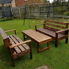 Cast Iron Table And Chairs Gumtree Chair Lifts For Stairs Wood Furniture. Garden Wooden Bench/table. Benches | In Craigavon ...
