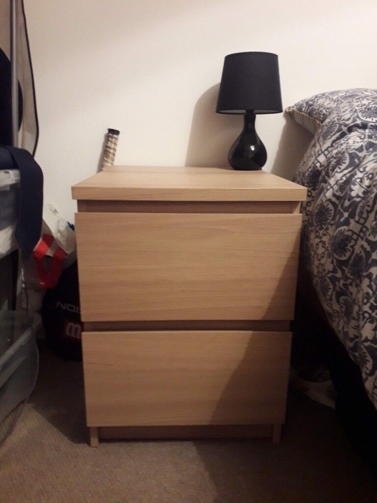 Ikea Malm Bedside Table In Colchester Essex Gumtree