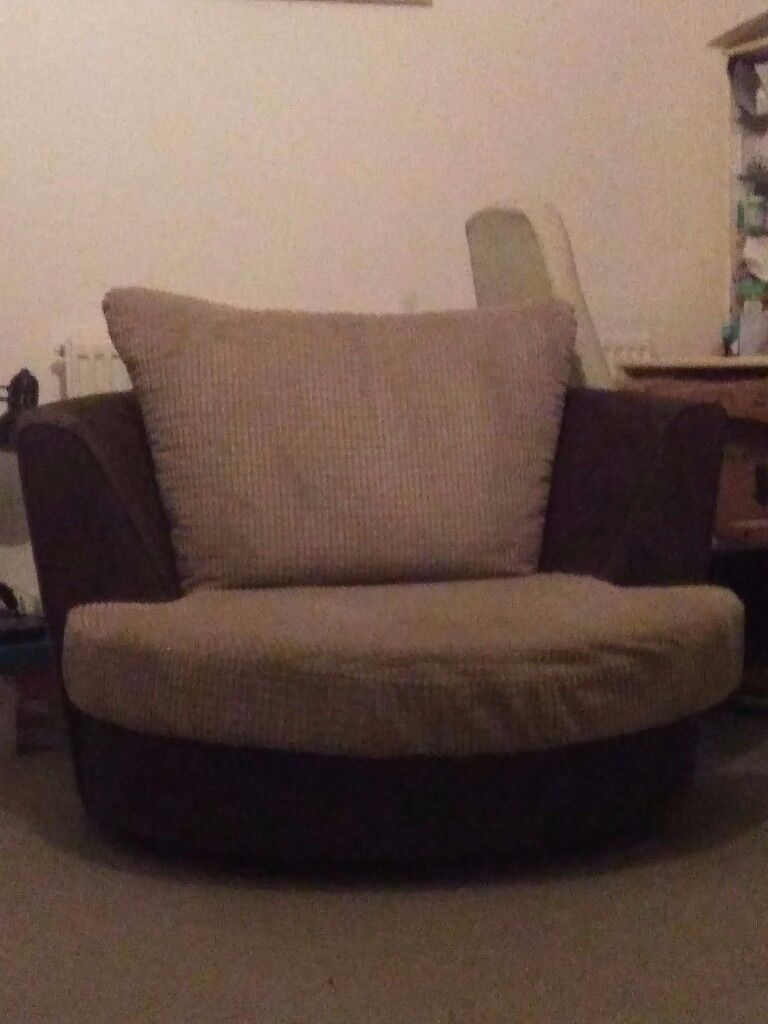 swivel cuddle chair york best high for bar height table in brown and chocolate north