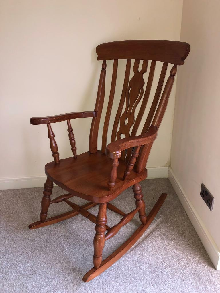 newport rocking chair toddler harness solid wood in risca gumtree