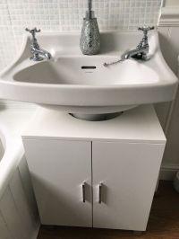 Under Sink Storage Unit/ Cabinet - High Gloss - White ...