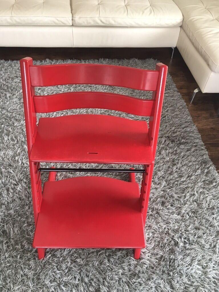 Red Stokke Tripp Trapp Chair  in Warwick Warwickshire
