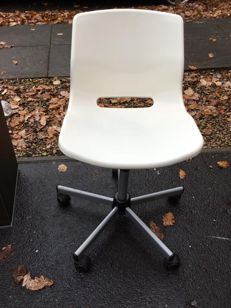 revolving chair gumtree covers upholstery white office in cyncoed cardiff