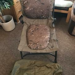 Fishing Chair Rain Cover Lounge Recliner Nash Indulgence Camo Reclining C W Excellent Condition