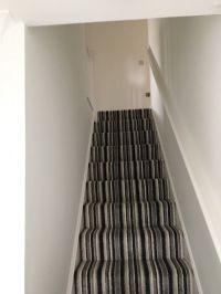 Grey Stripe Carpet - Home Safe