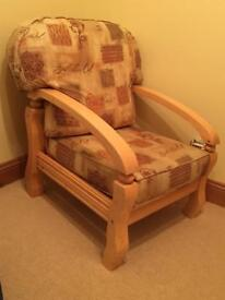 bedroom chair gumtree ferndown hickory white chairs stool ottoman seat in dorset beech x2 excellent condition