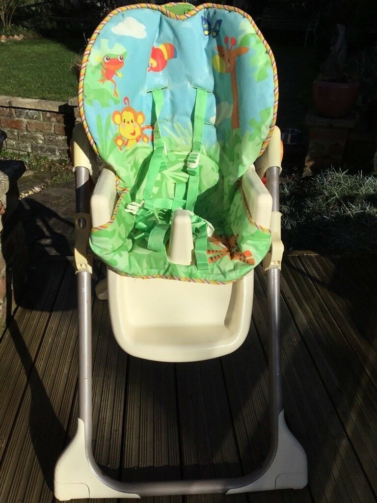 rainforest high chair wicker outdoor dining chairs fisher price in southampton hampshire