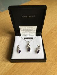 Warren James Necklace and matching Earring Set.