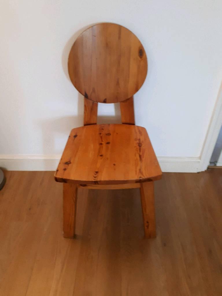 unusual wooden chair half sphere in fordingbridge hampshire gumtree