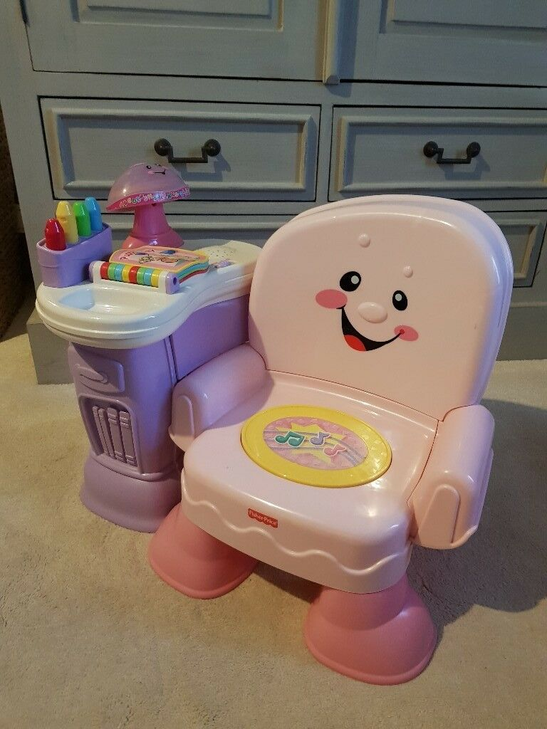 fisher price laugh and learn chair pink steel cad block in ashbourne derbyshire