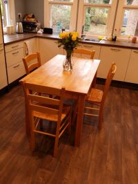 """""""Habitat"""" beech kitchen table + 4 chairs 