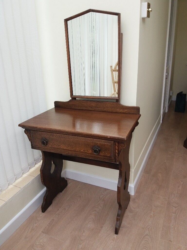 bedroom chair gumtree ferndown teal armless dressing table and mirror solid oak in dorset