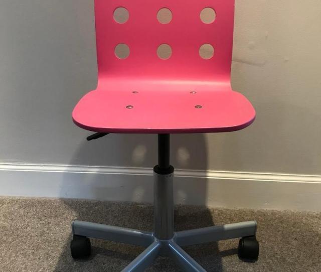 Ikea Jules Kids Desk Chair Pink