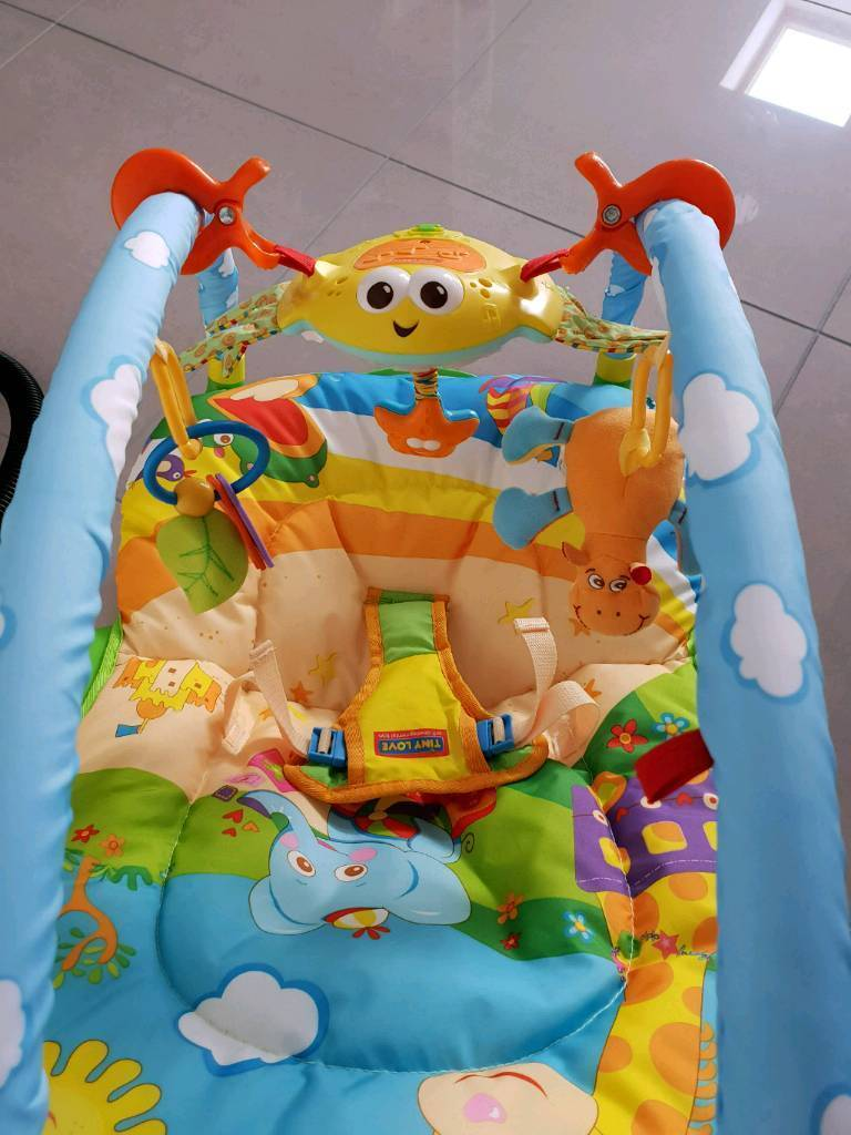 tiny love bouncer chair hanging stand weight tinylove gymini baby in newcastle under lyme
