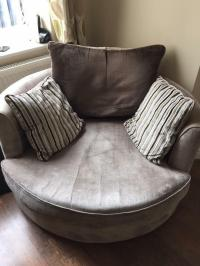 Sofa Portland Grey Large 3 Seater Sofa Portland Velvet ...